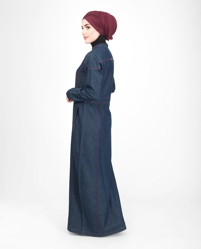 Breastfeeding denim jilbab abaya