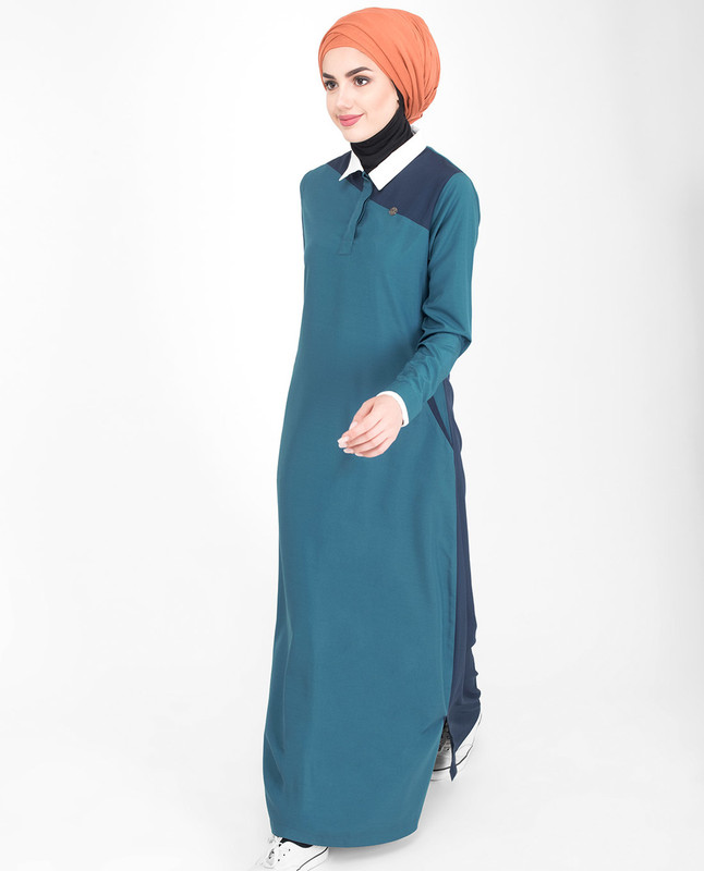 Summer comfortable blue abaya jilbab