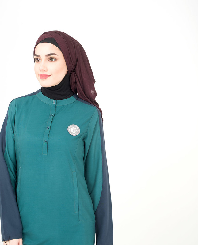 Front neck button jilbab abaya