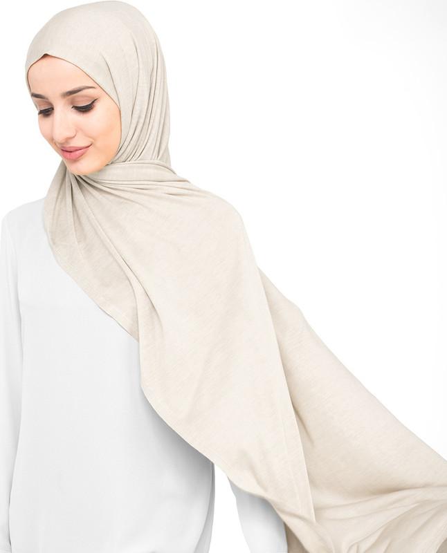 Grey jersey hijab scarf