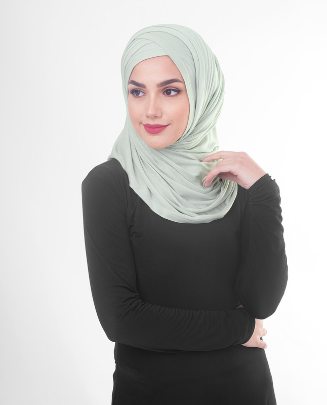 Light green hijab scarf