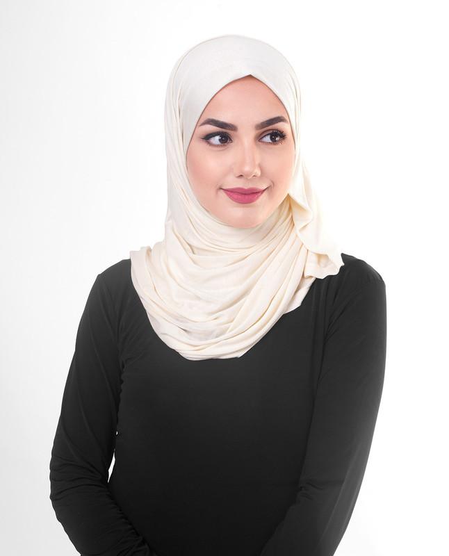 Pink hijab style scarf