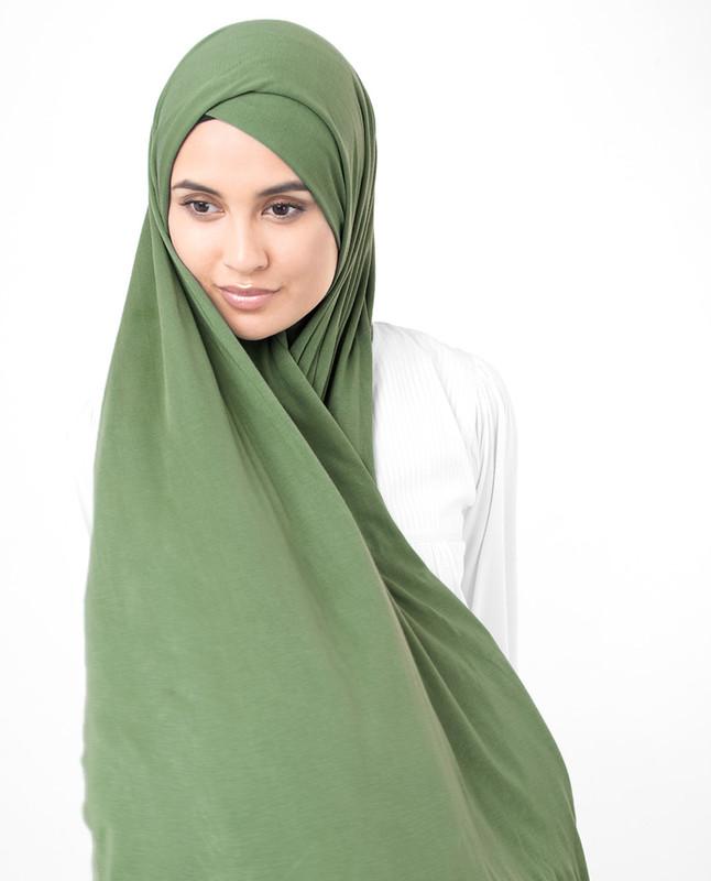 Light green jersey hijab scarf