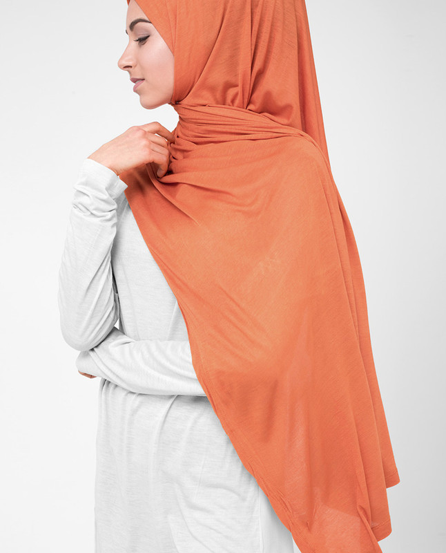 Orange hijab scarf