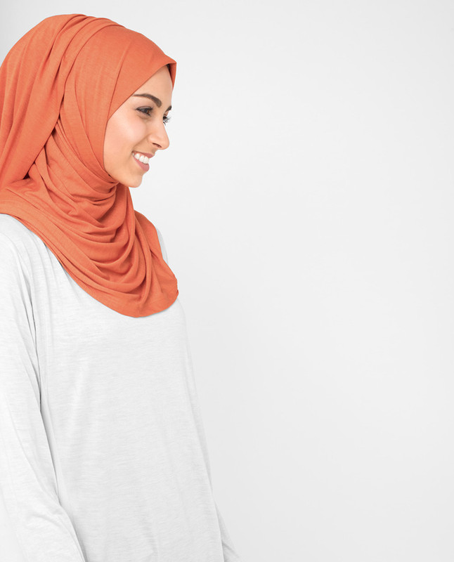 Orange hijab scarf fashion