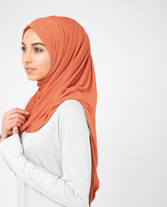 jersey orange hijab scarf