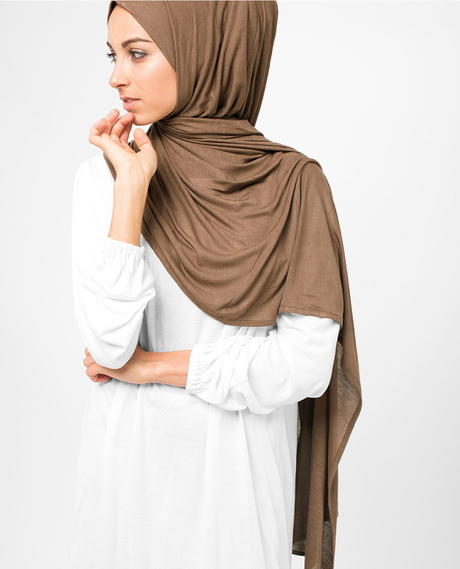 brown scarf hijab