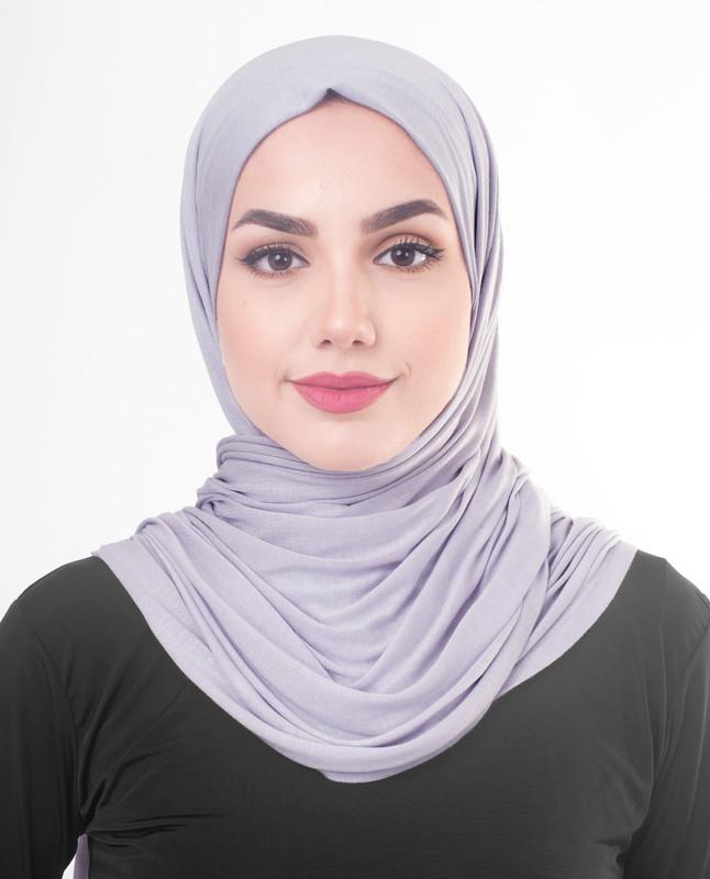 Light purple hijab outfit scarf