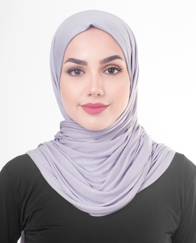 Light purple hijab outfit scarf
