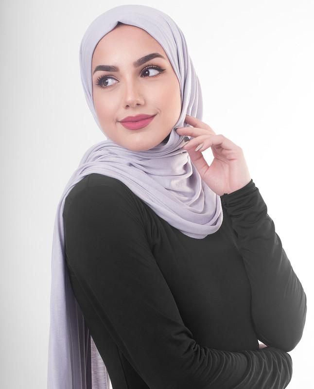 Hijab purple dress scarf