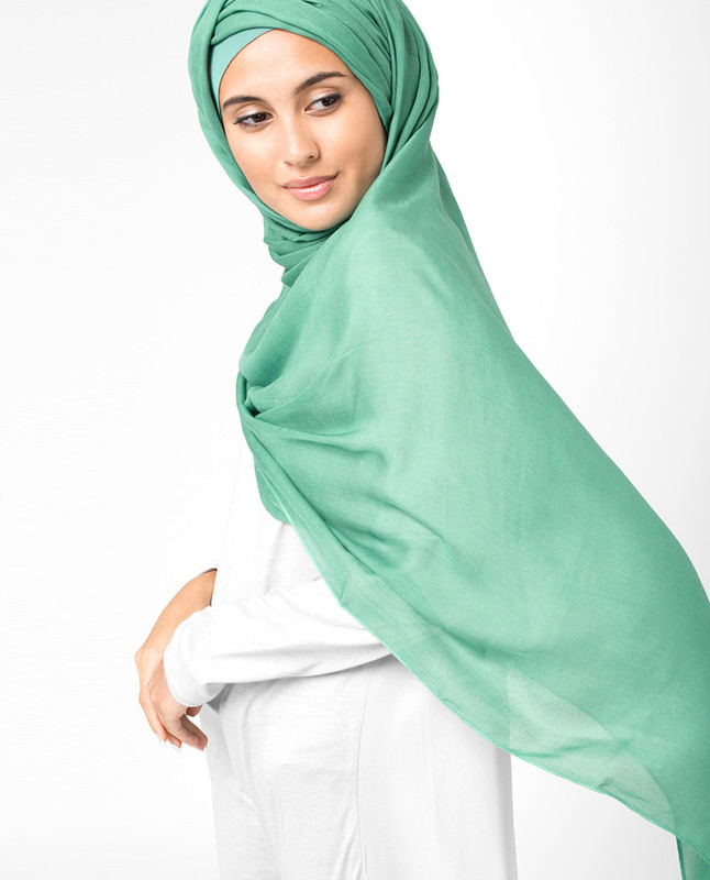 Mint green hijab scarf