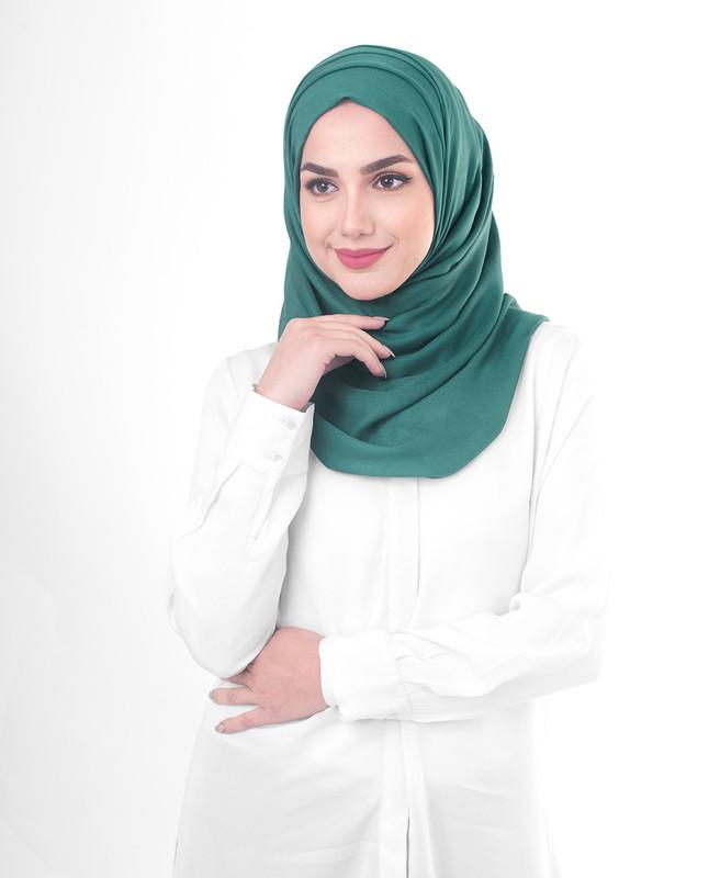 Green hijab style scarf
