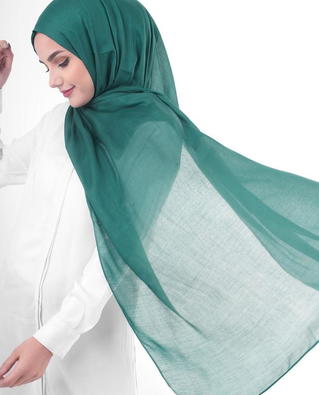 Emerald green hijab scarf