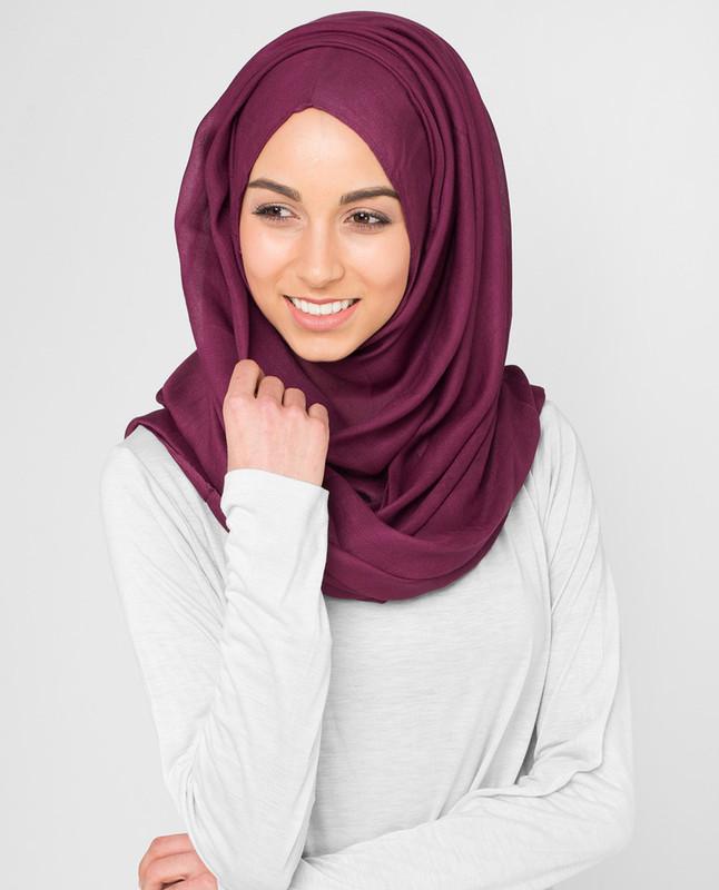 Maroon hijab scarf