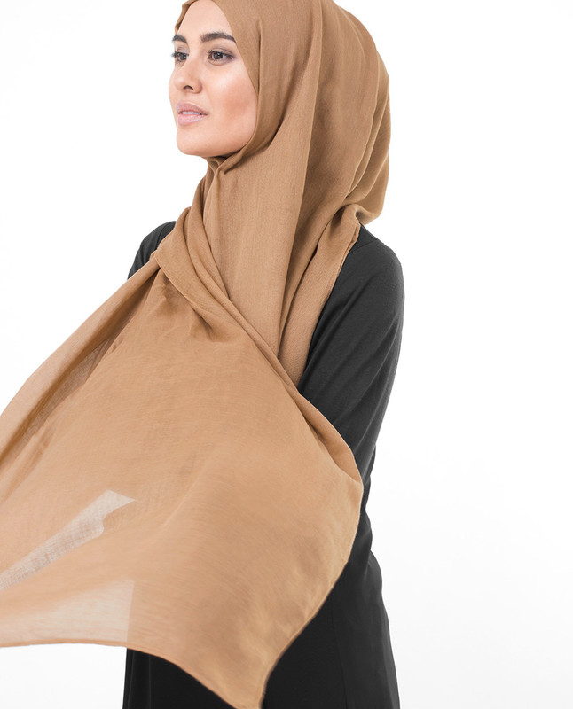 Beige hijab outfit scarf