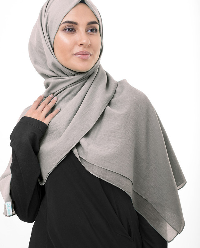 Grey hijab scarf