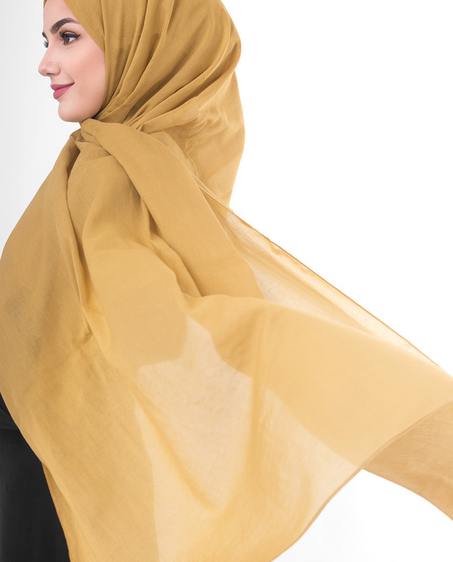 Gold color hijab scarf