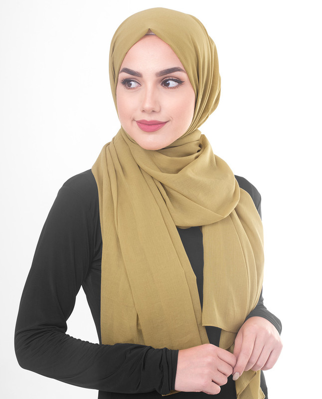 Green hijab outfit scarf