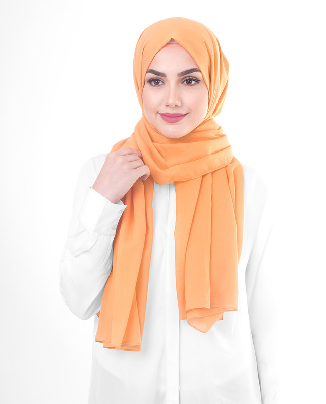 Orange hijab fashion scarf