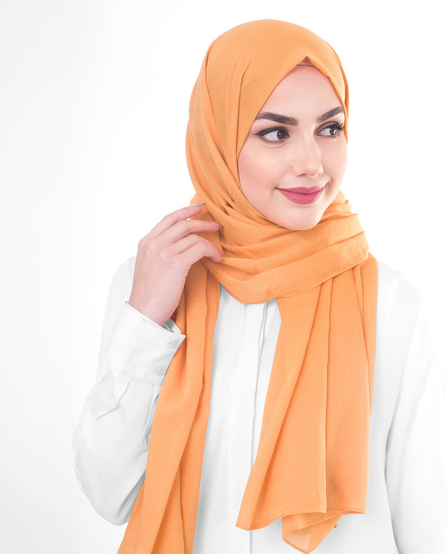 Orange hijab outfit scarf