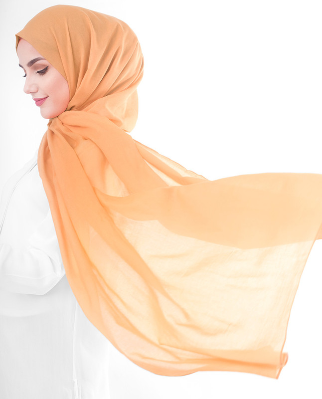 Burnt orange hijab scarf