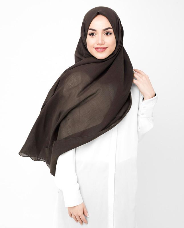 Brown cotton hijab scarf