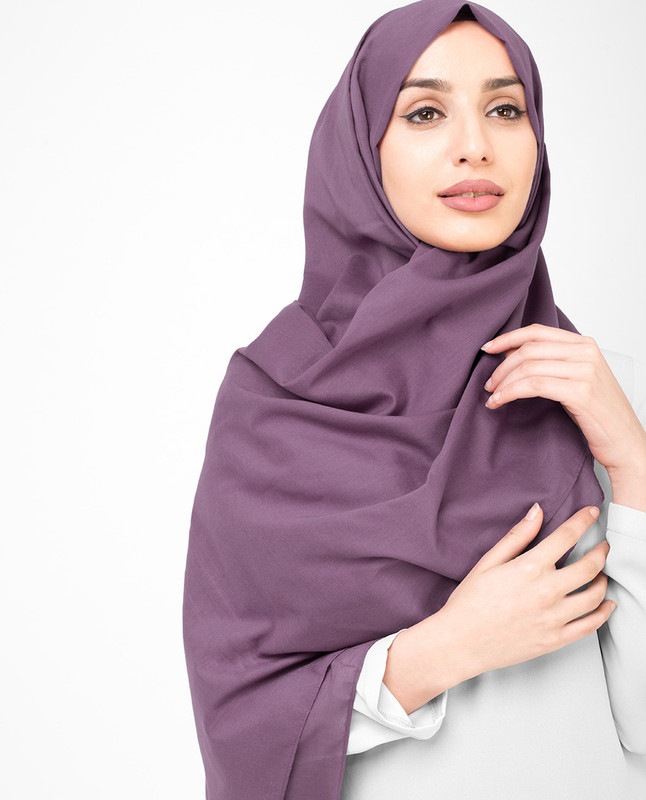 Purple hijab outfit scarf
