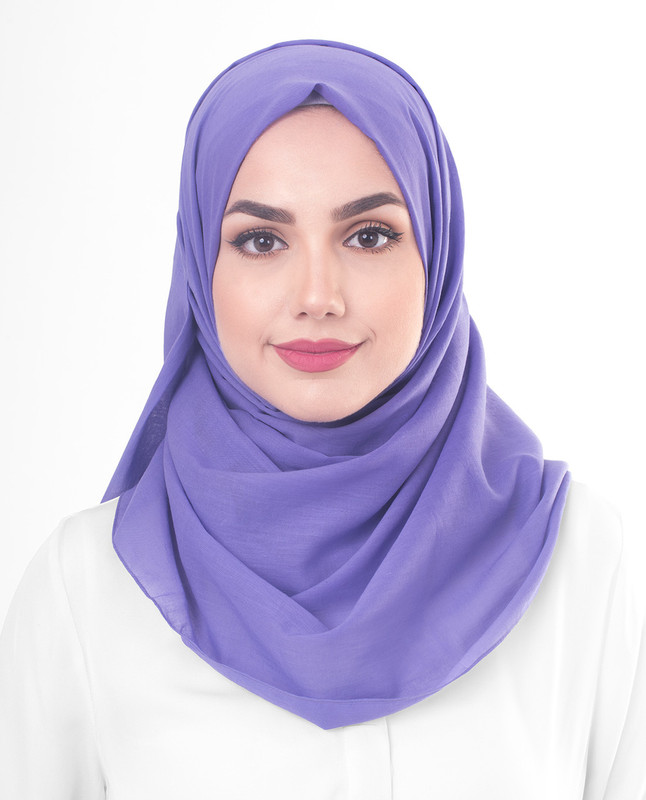 Purple cotton hijab scarf