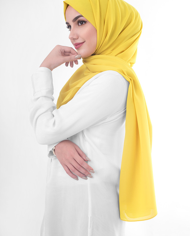 Yellow hijab fashion scarf