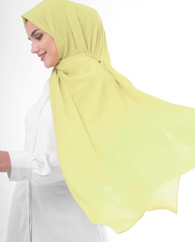 Yellow plain scarf hijab