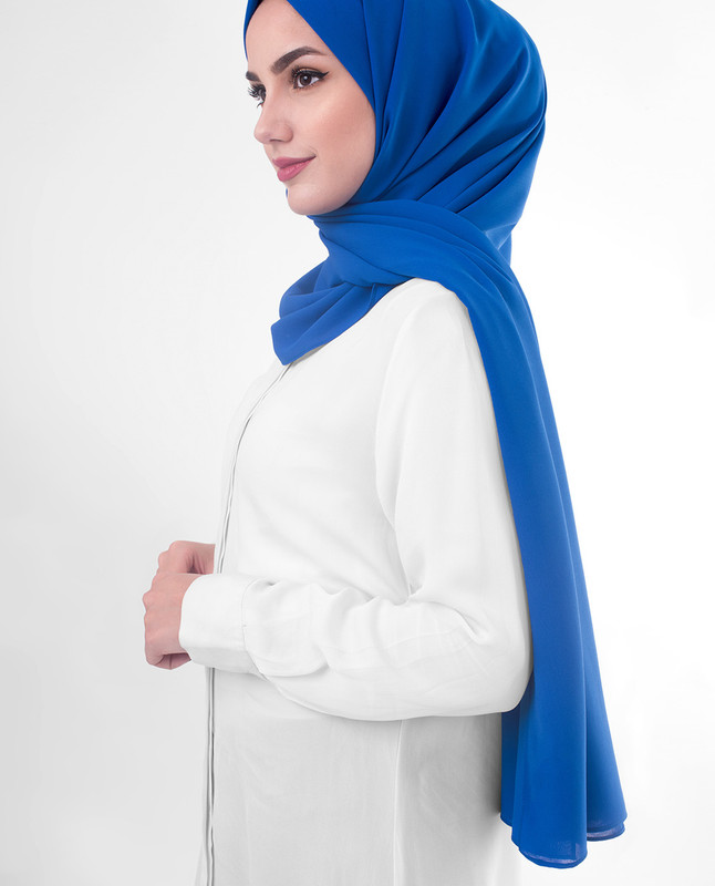 Royal Blue hijab scarf