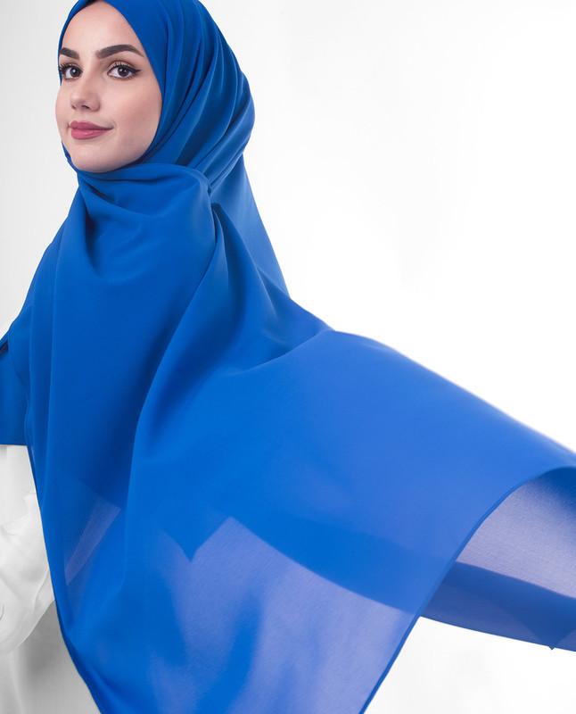 Navy blue hijab scarf