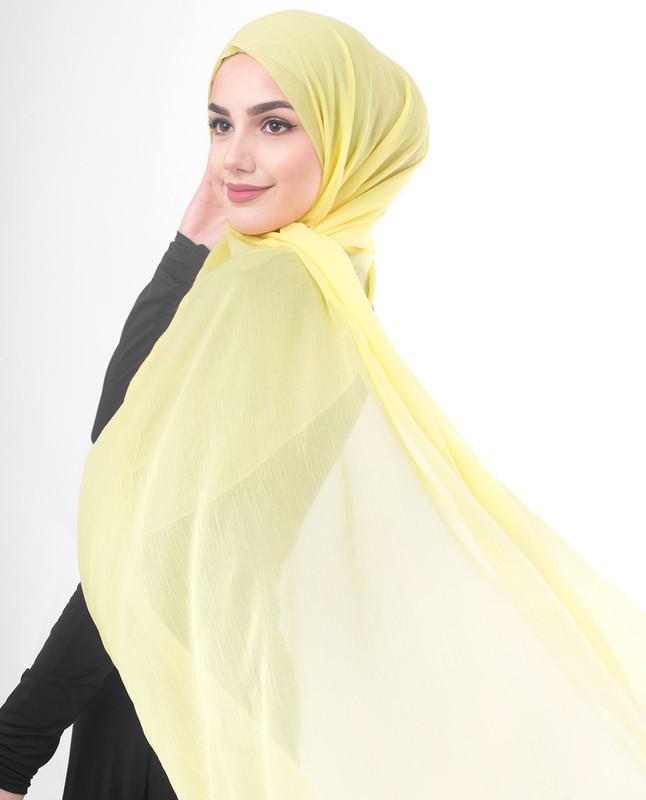 Yellow hijab fashion scarf