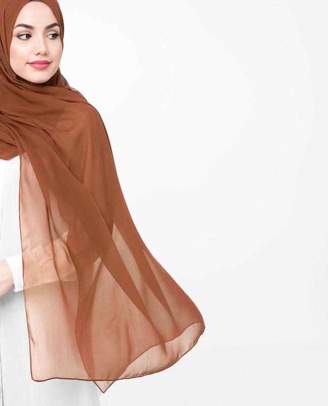Casual brown hijab scarf