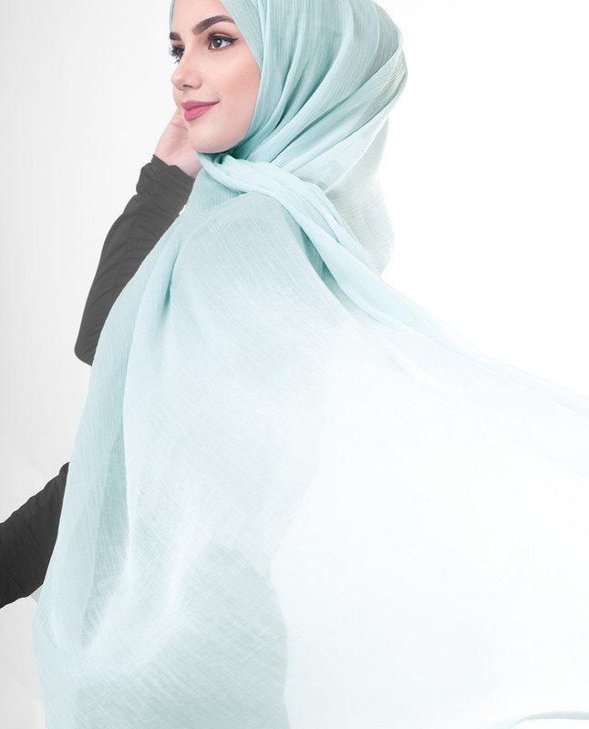 Summer blue hijab scarf