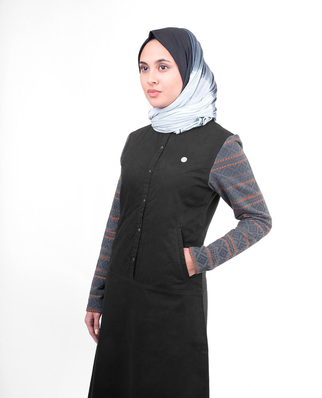 High neck abaya jilbab