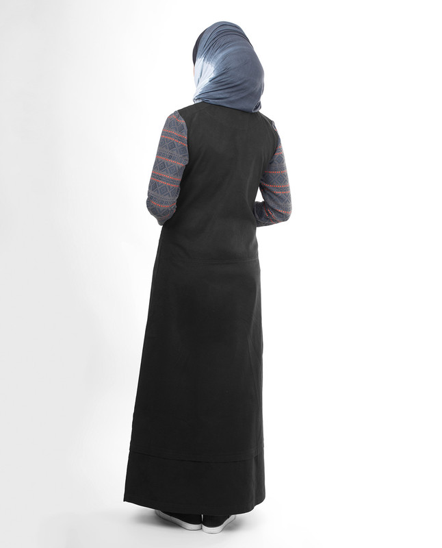 black winter modest abaya jilbab