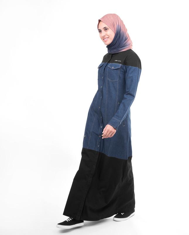 button abaya jilbab