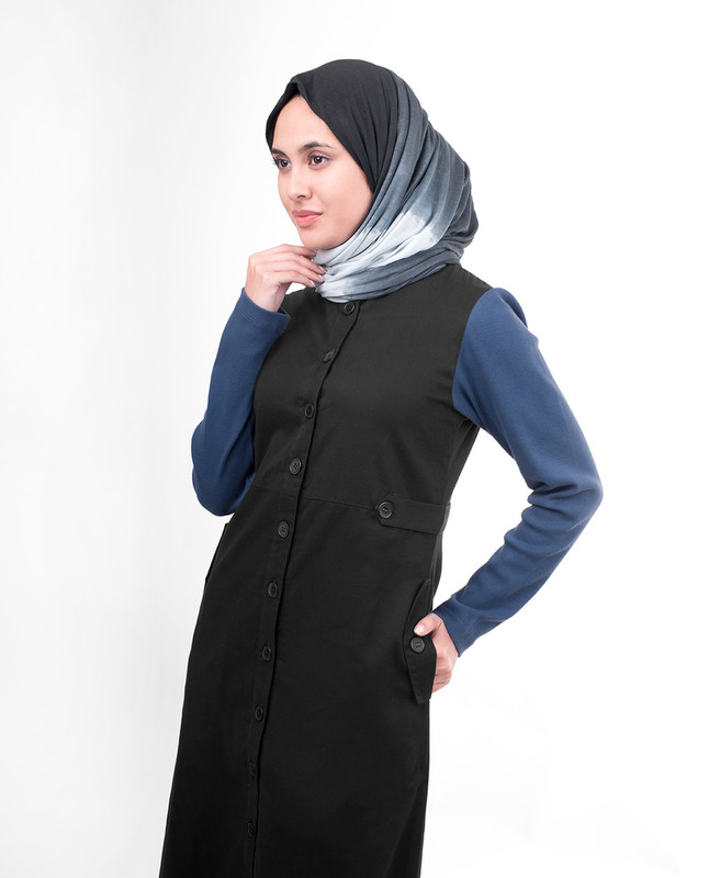Sports black abaya jilbab