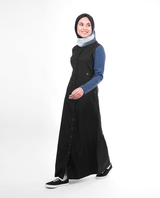 Relaxed fit abaya jilbab