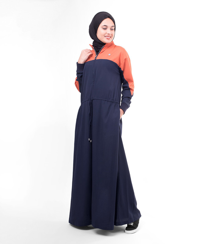 Dark blue abaya jilbab