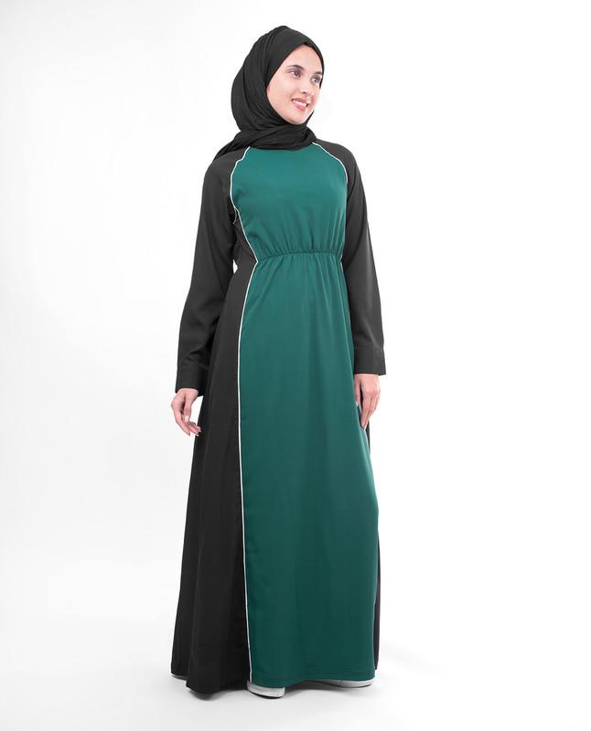 Emerald green abaya jilbab