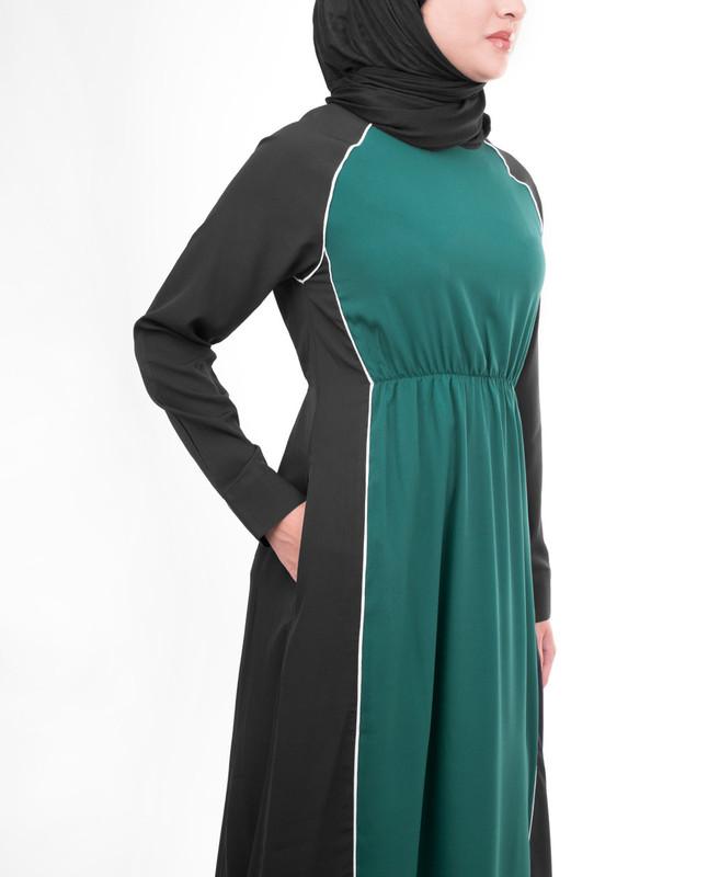 Flared abaya jilbab