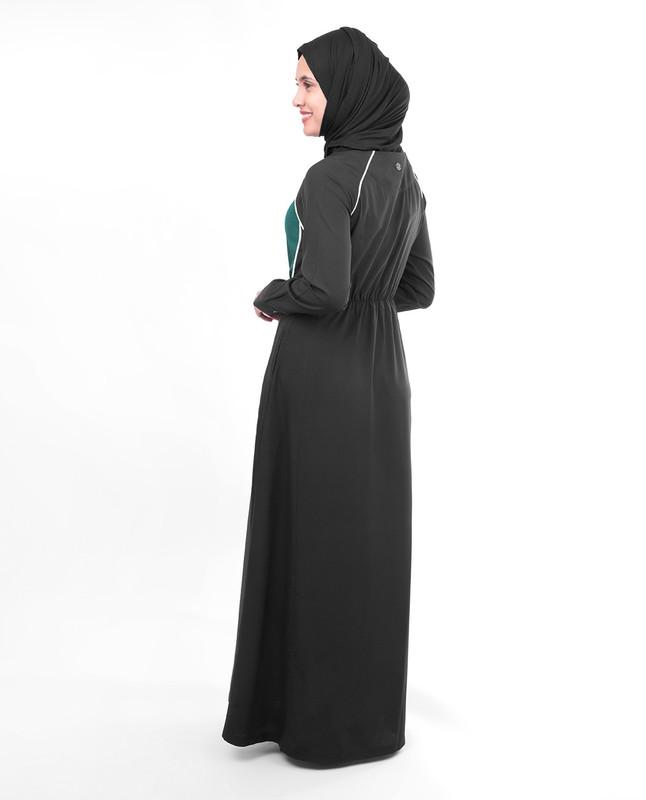 Black sporty abaya jilbab