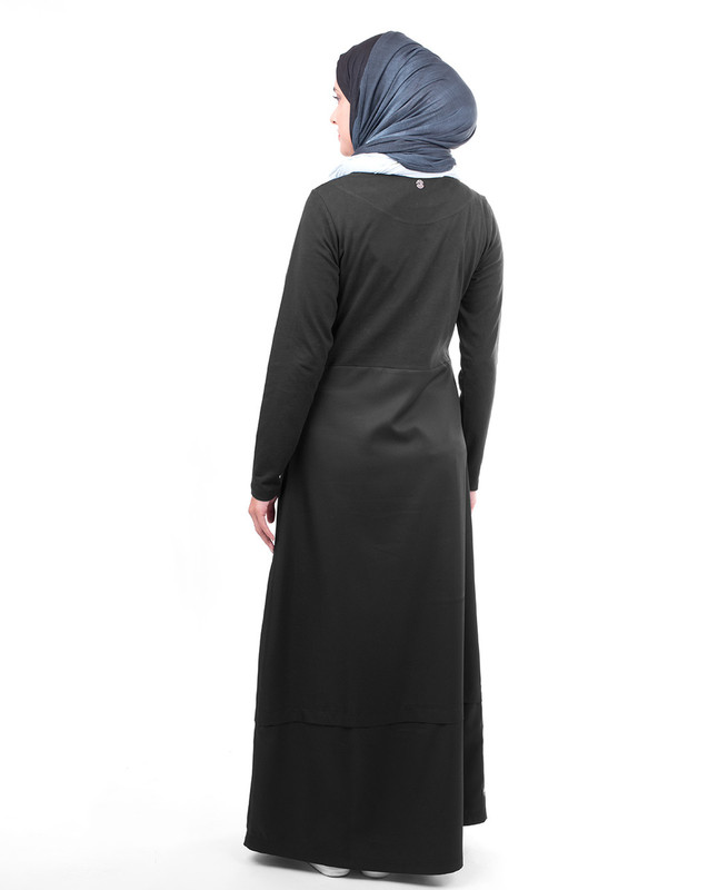 Black cotton abaya jilbab