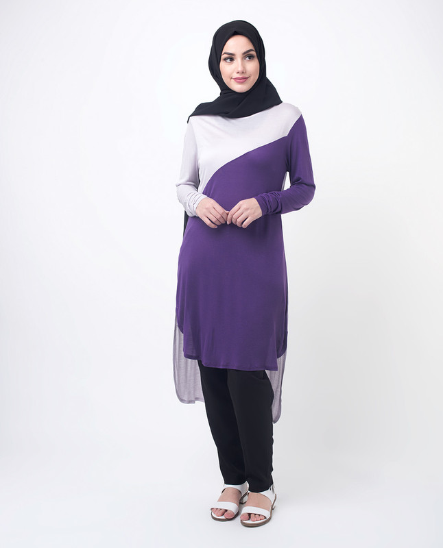 Purple Modest Top Tunic