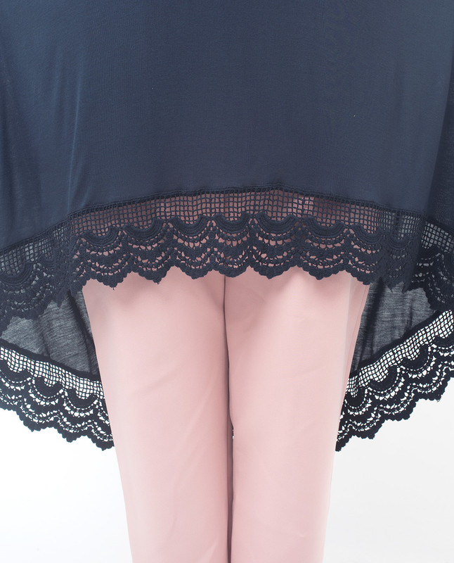 Lace Hem Tunic Top