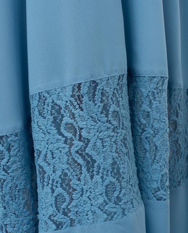 Blue , long outerwear, kimono
