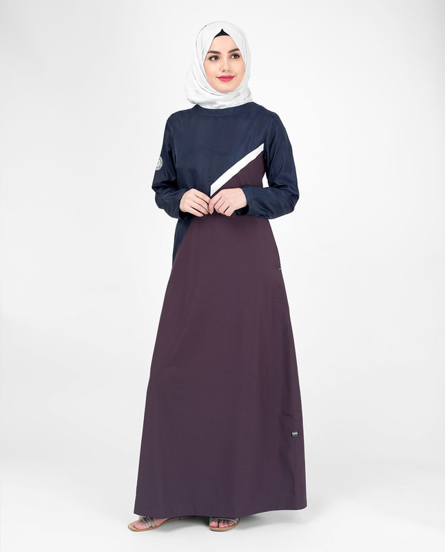 Purple abaya jilbab