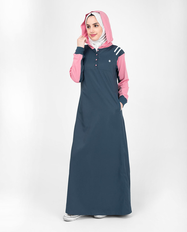 Buy grey abaya jilbab